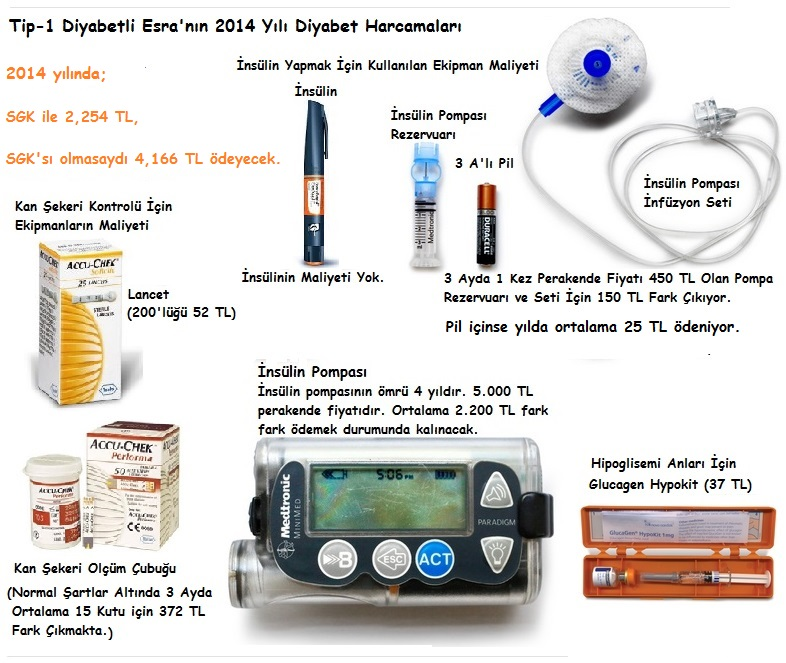 type1 diabetic esra cost