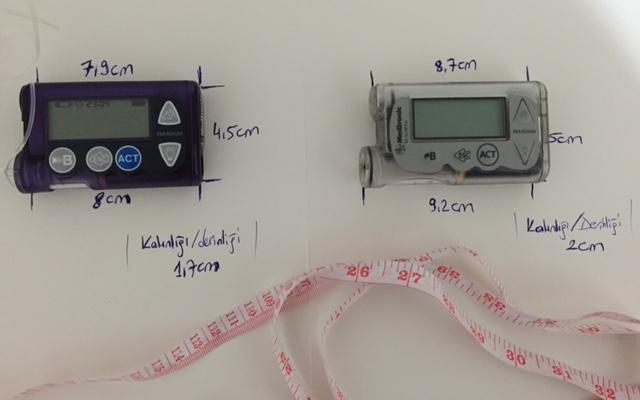 insülin pompası boyut